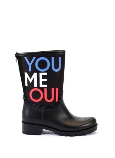 Esem ESEM B0036 Yağmur Çizmesi Kadın Ayakkabı  Siyah